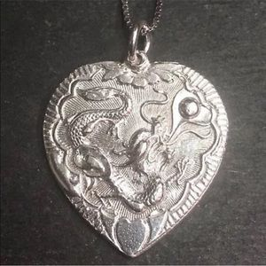New Handcrafted 925 Silver  Heart Charm  Design